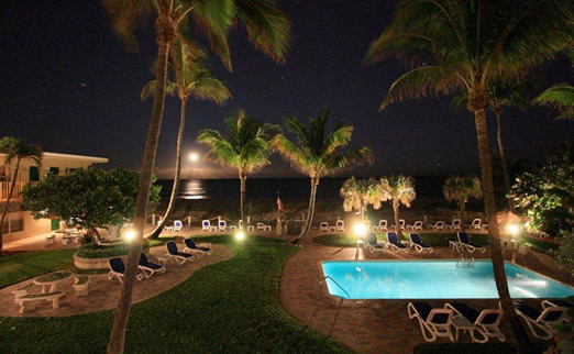 Tropic Seas Resort at Night