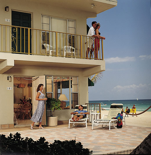 Tropic Seas Resort Ft Lauderdale hotel motel porch beach